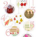Free Printable Christmas Decorations   Ausdruckbare   Free Printable Christmas Decorations