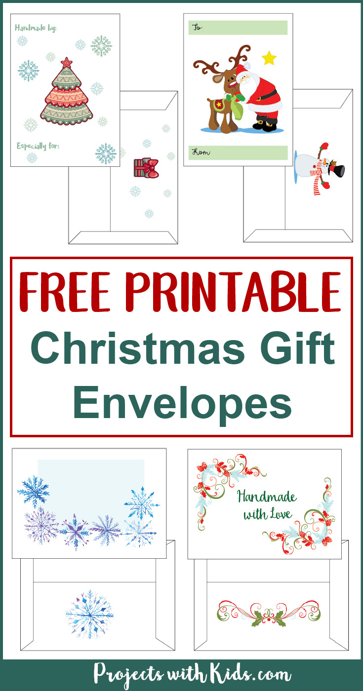 Free Printable Christmas Gift Envelopes | Projects With Kids - Free Printable Envelopes