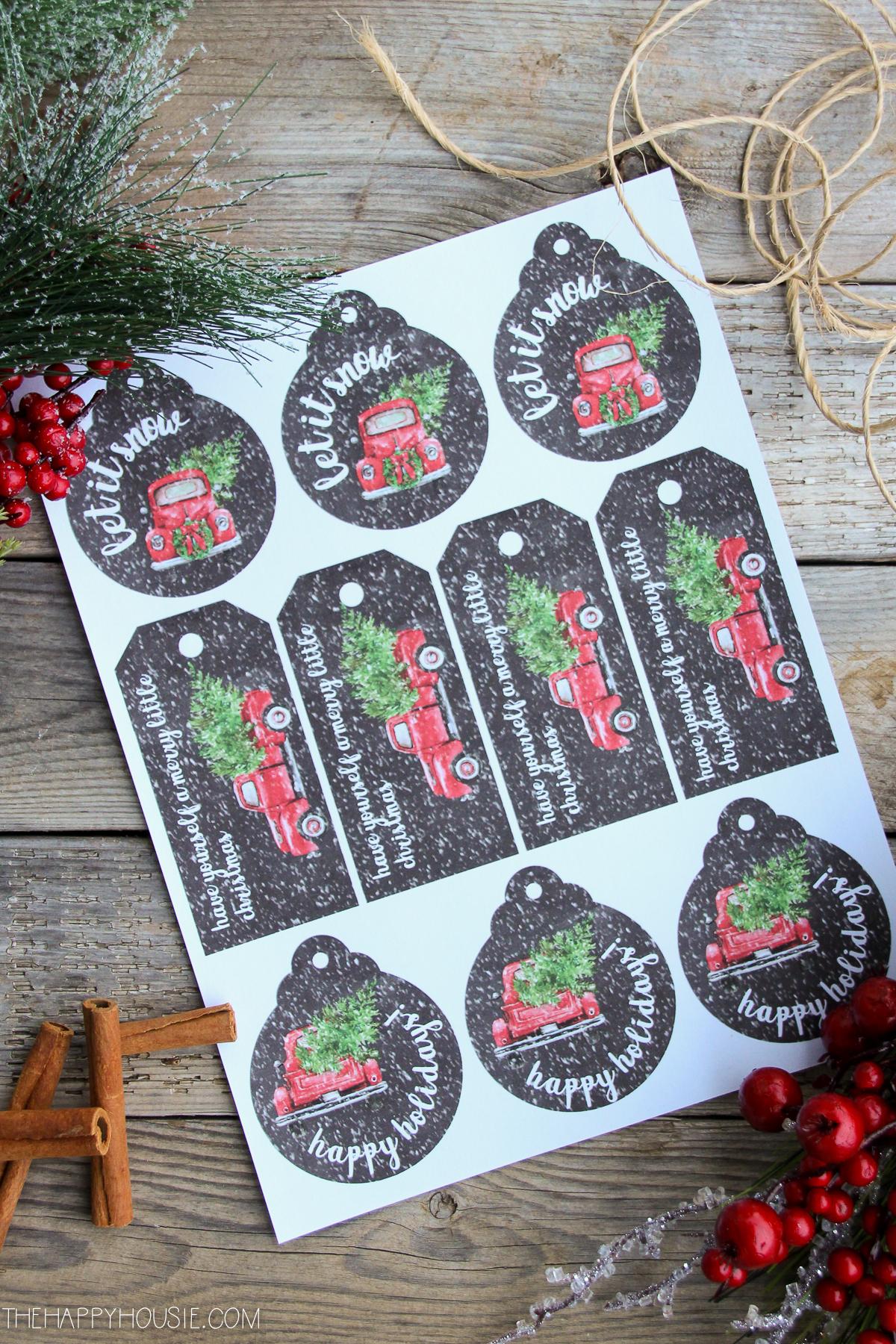 Free Printable Christmas Gift Tags - Bless'er House - Free Printable Angel Gift Tags