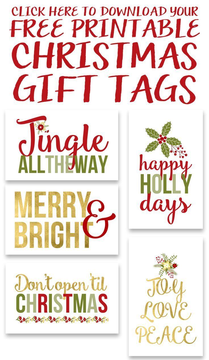 Free Printable Christmas Gift Tags | Free Printables & Downloads - Free Printable Christmas Gift Tags