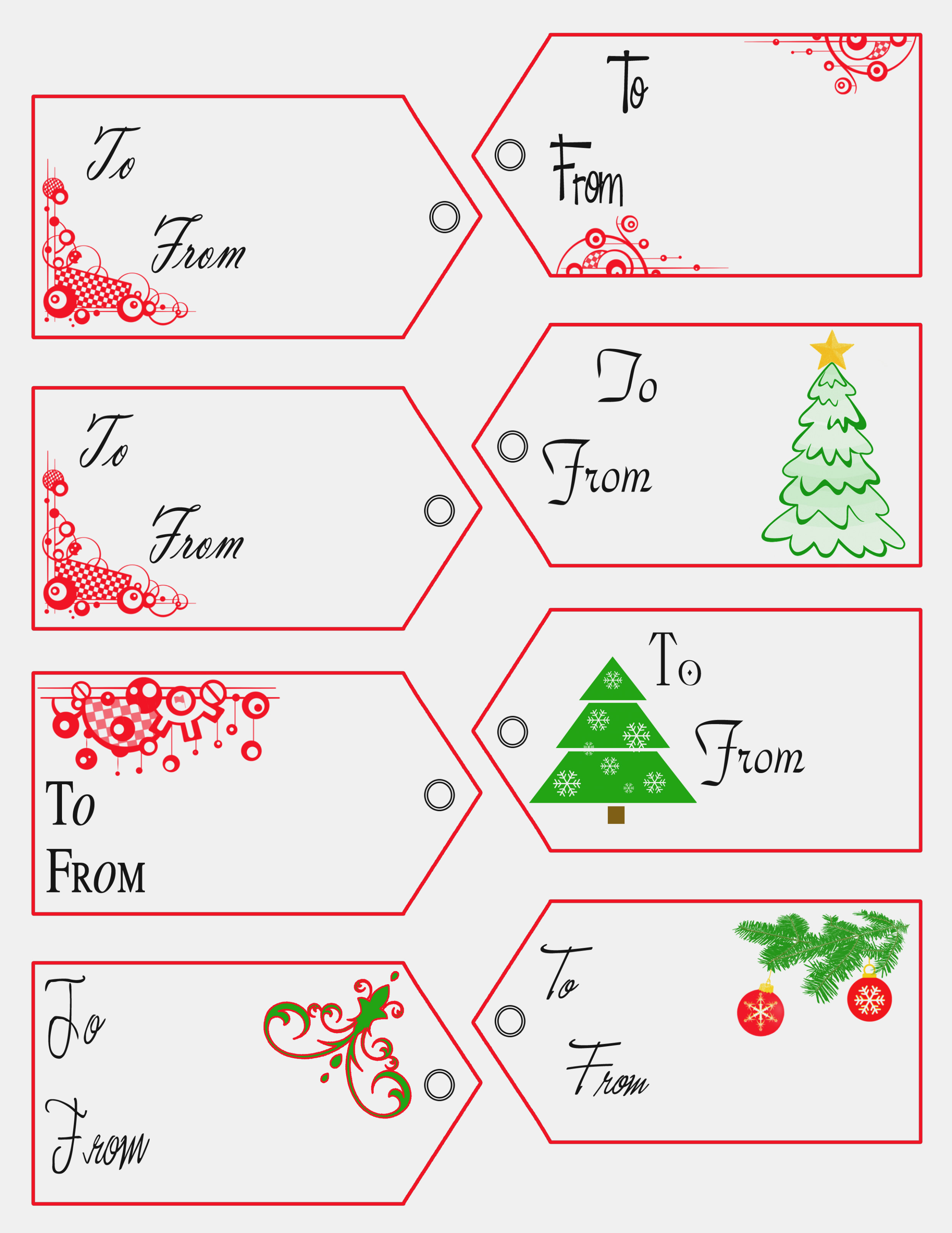 Free Printable Christmas Gift Tags Templates – Christmas Printables - Free Printable Editable Christmas Gift Tags