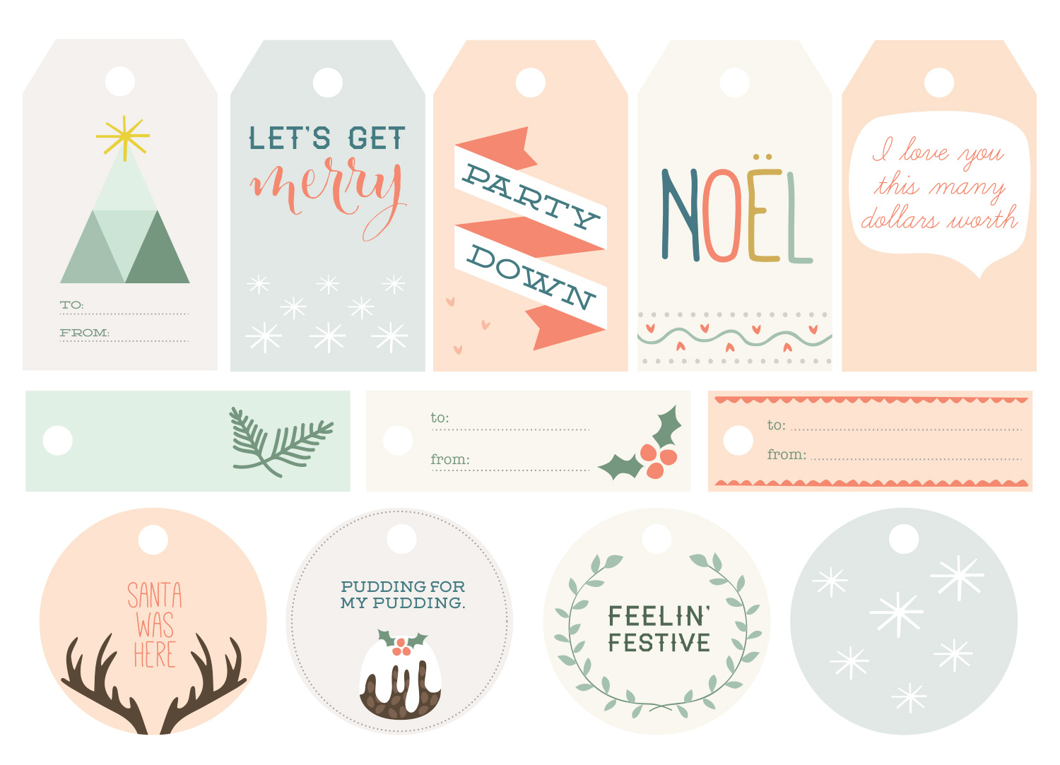Free Printable Christmas Gift Tags - The Makers Society - Free Printable Tags