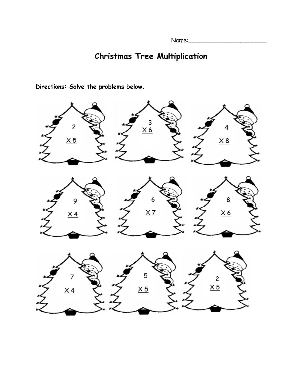 Free Printable Christmas Math Worksheets For First Grade - Free Printable Christmas Maths Worksheets Ks1