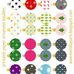 Free Printable Christmas Ornaments: Baubles   Ausdruckbarer   Free Printable Christmas Decorations