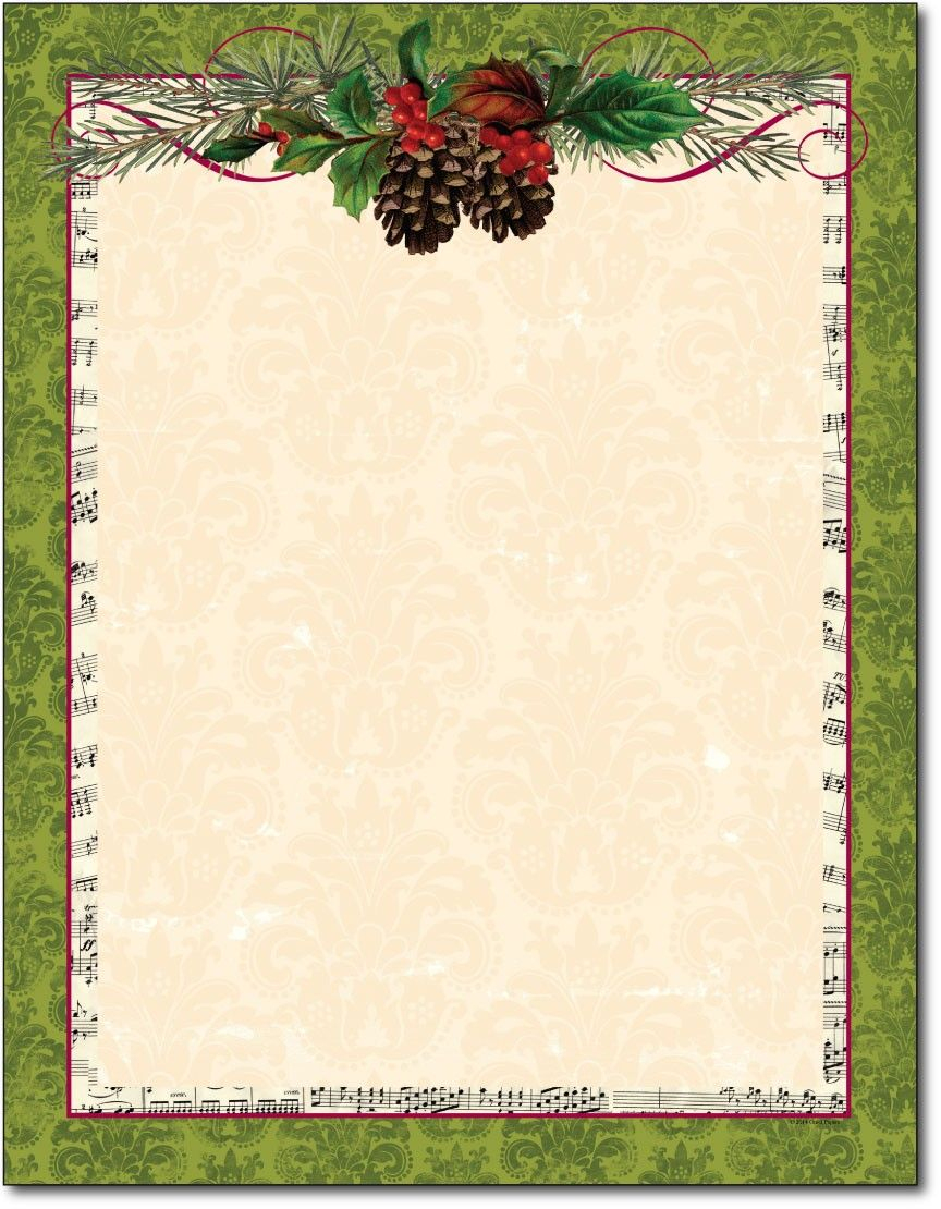 Free Printable Christmas Paper Stationery - Google Search - Free Printable Christmas Stationary
