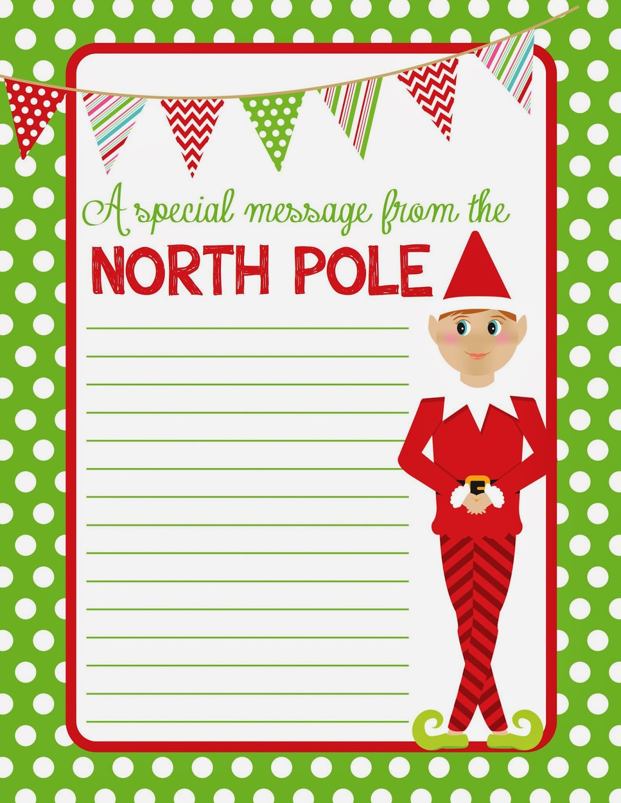 Free Printable Christmas Paper With Borders – Festival Collections - Free Printable Christmas Paper With Borders