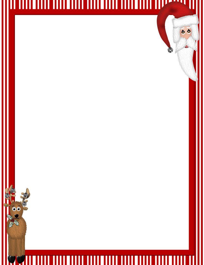 Free Printable Christmas Stationary Borders | Christmasstationery - Free Printable Stationary Borders