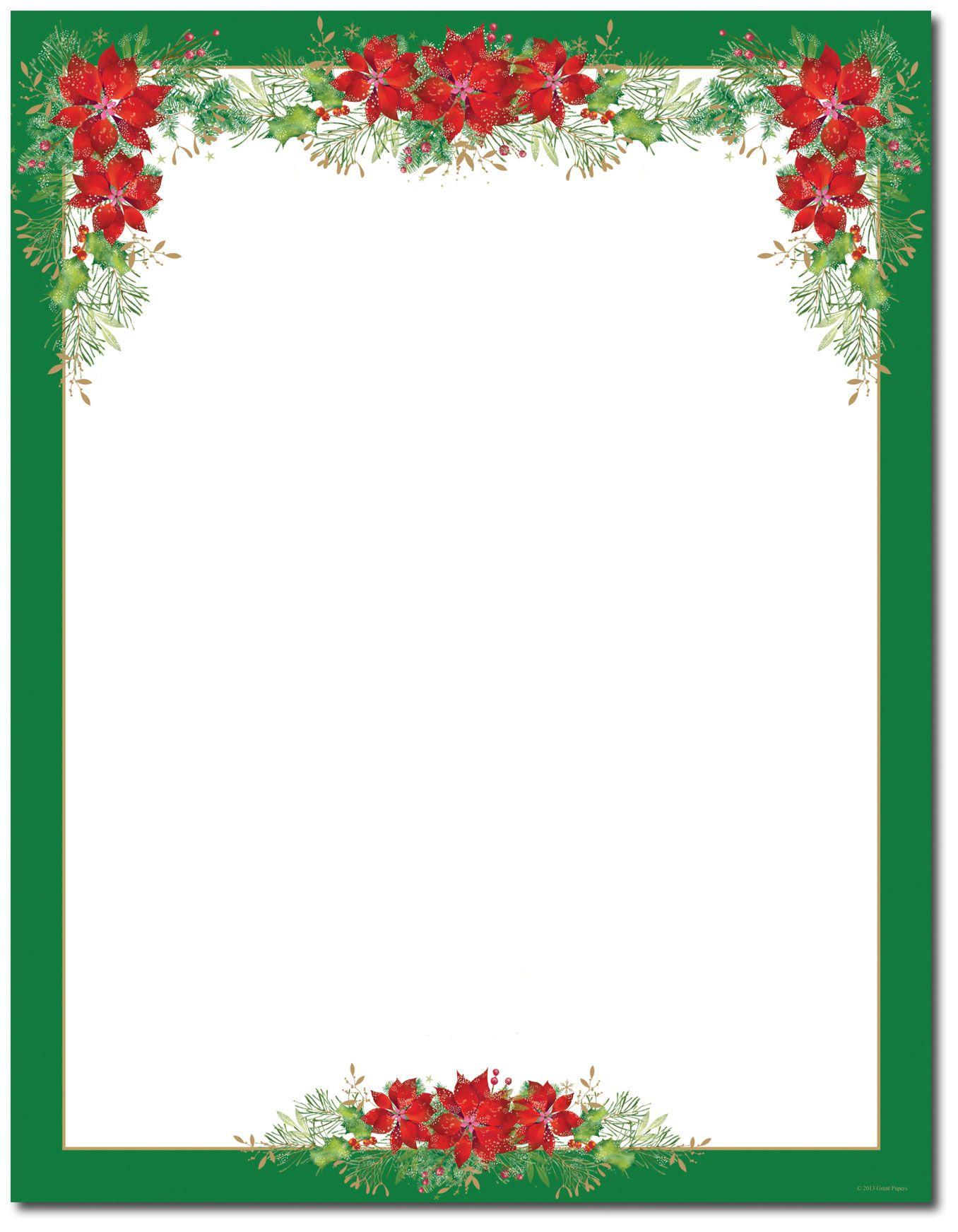 Free Printable Christmas Stationary Borders – Festival Collections - Free Printable Christmas Stationary