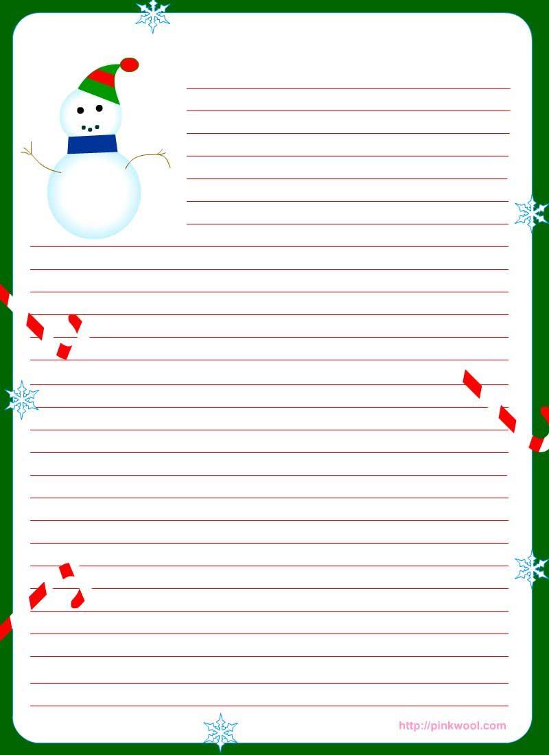Free Printable Christmas Stationary | Stationary | Christmas - Free Printable Christmas Writing Paper With Lines