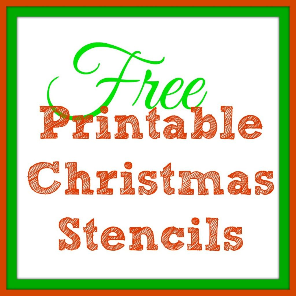 Free Printable Christmas Stencils – Christmas Tree Templates & Santa - Free Printable Christmas Iron On Transfers