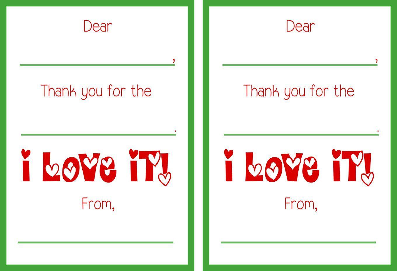 Free Printable Christmas Thank You Cards   Gift Ideas   Thank You - Christmas Thank You Cards Printable Free