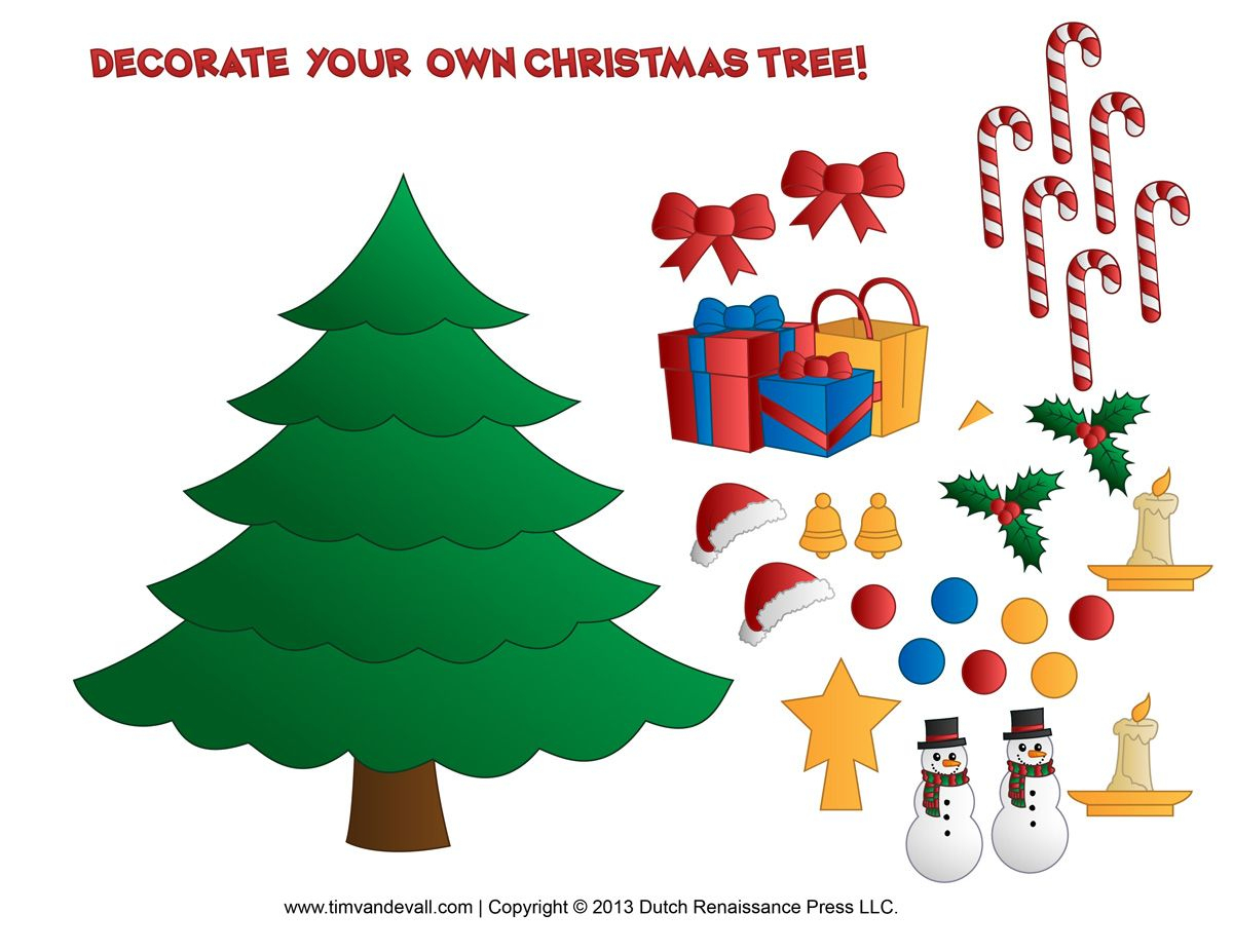 Free Printable Christmas Tree Coloring Pages - Google Search - Free Printable Christmas Ornament Crafts