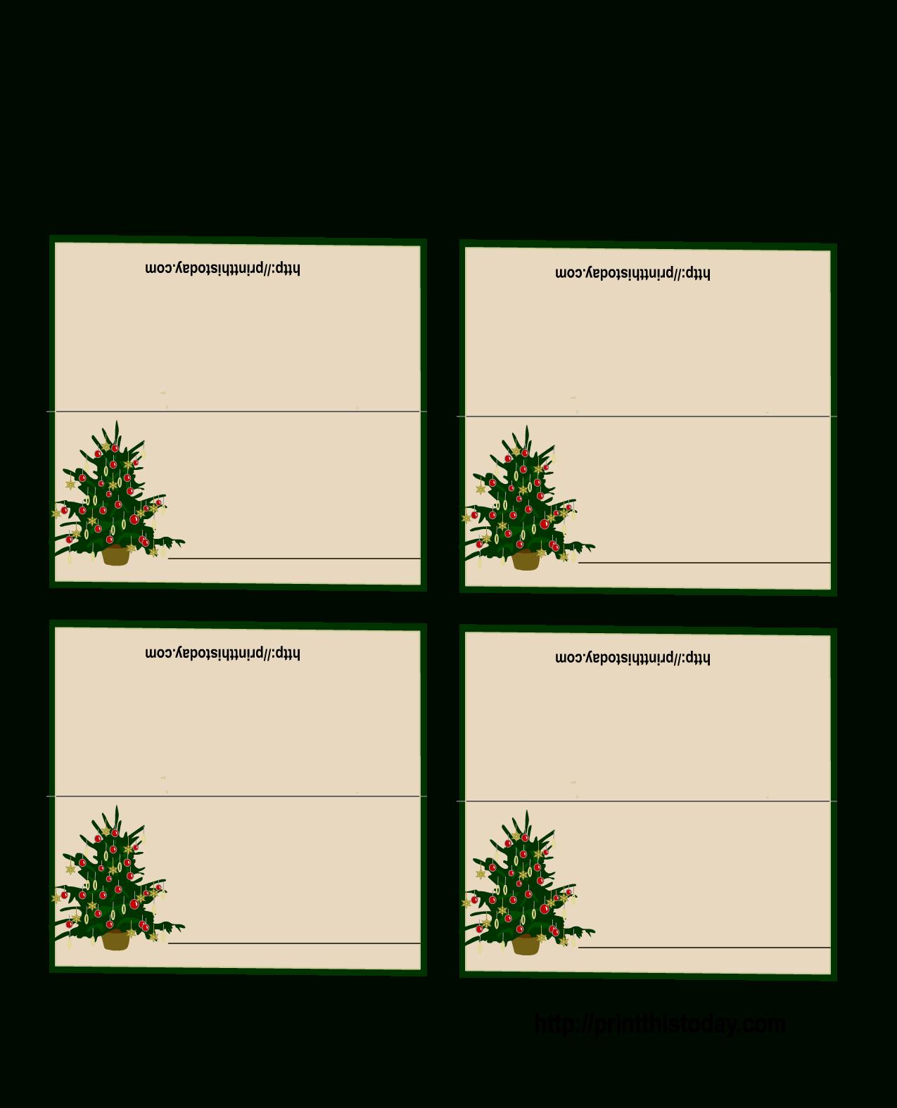 Free Printable Christmas Tree Place Cards | *+* Free Holiday - Free Printable Place Cards