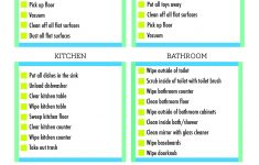 Free Printable Housework Checklist