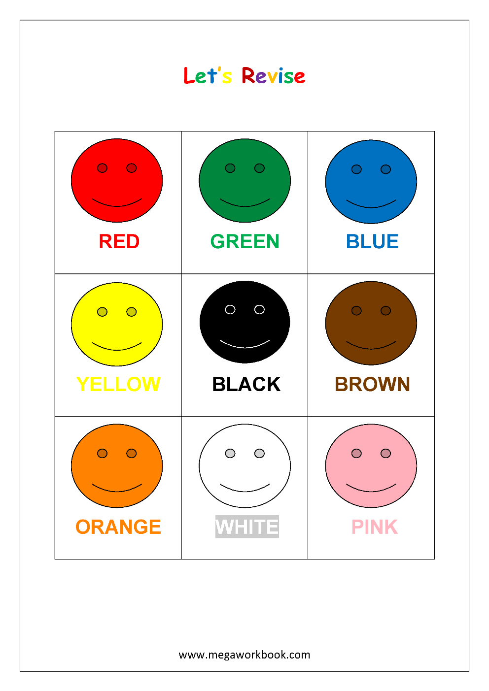 Free Printable Color Recognition Worksheets - Learn Basic Colors - Color Recognition Worksheets Free Printable