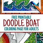 Free Printable Coloring Page For Adults: Doodle Boat!   Free Printable Boat Pictures
