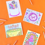 Free Printable Coloring Postcards – Studio Diy – Free Printable Postcards