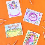 Free Printable Coloring Postcards – Studio Diy – Free Printable Postcards