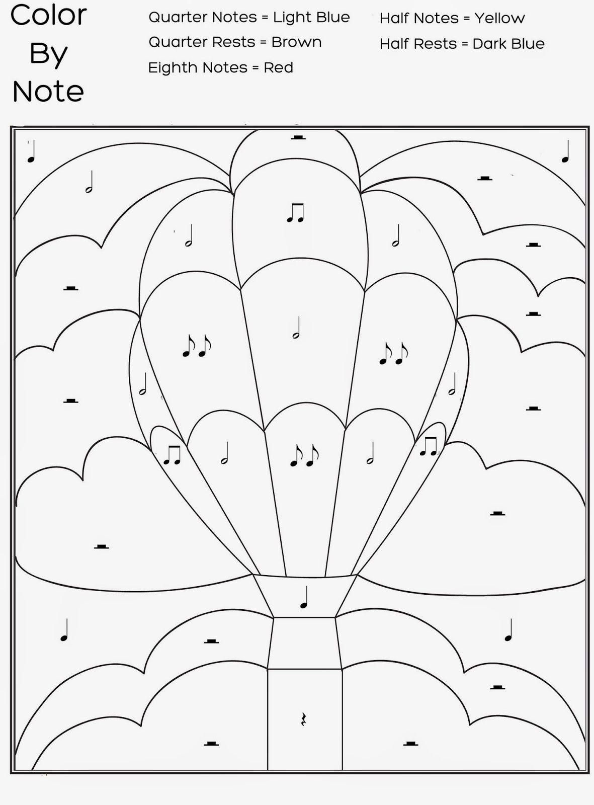 Free Printable Colornote Worksheet | Music : Free Printable - Free Printable Pictures Of Music Notes