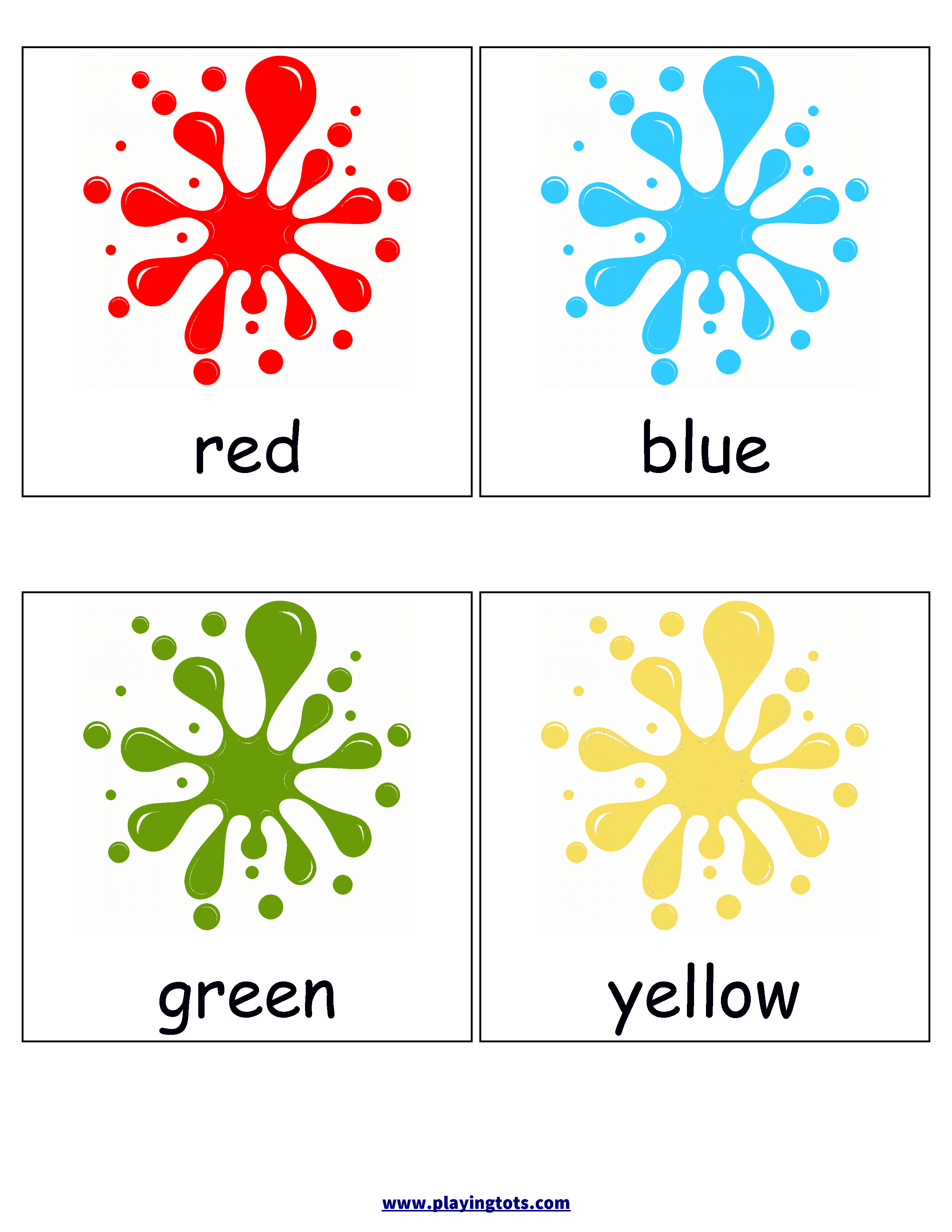 Free Printable Colors Flash Cards   Ell/esl Flashcards, Games, Apps - Free Printable Colour Flashcards