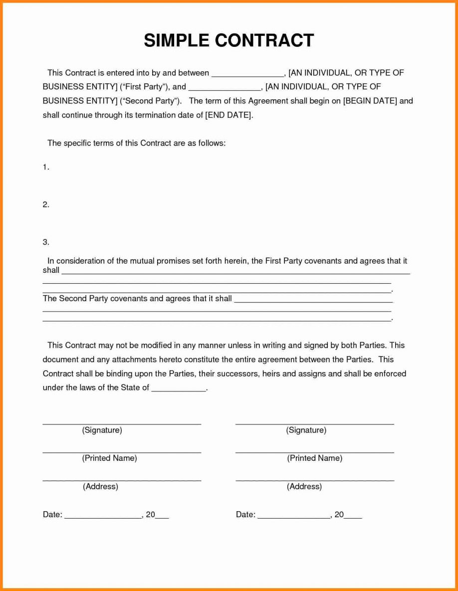 Free Printable Construction Contract Agreement With Template Plus - Free Printable Construction Contracts