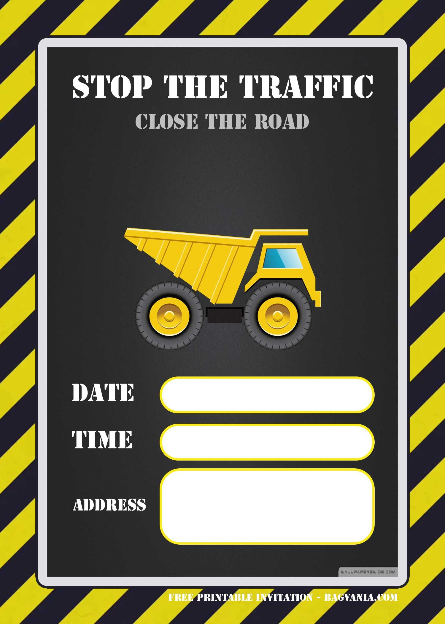 Free Printable Construction Invitation | Free Printable Birthday - Free Printable Construction Invitations