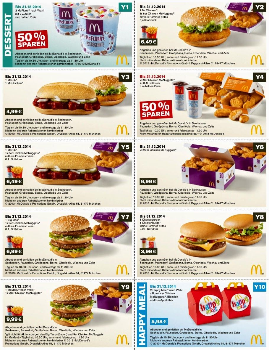 Free Printable Coupons: Mcdonalds Coupons | Tips | Pinterest - Free Printable Mcdonalds Coupons Online