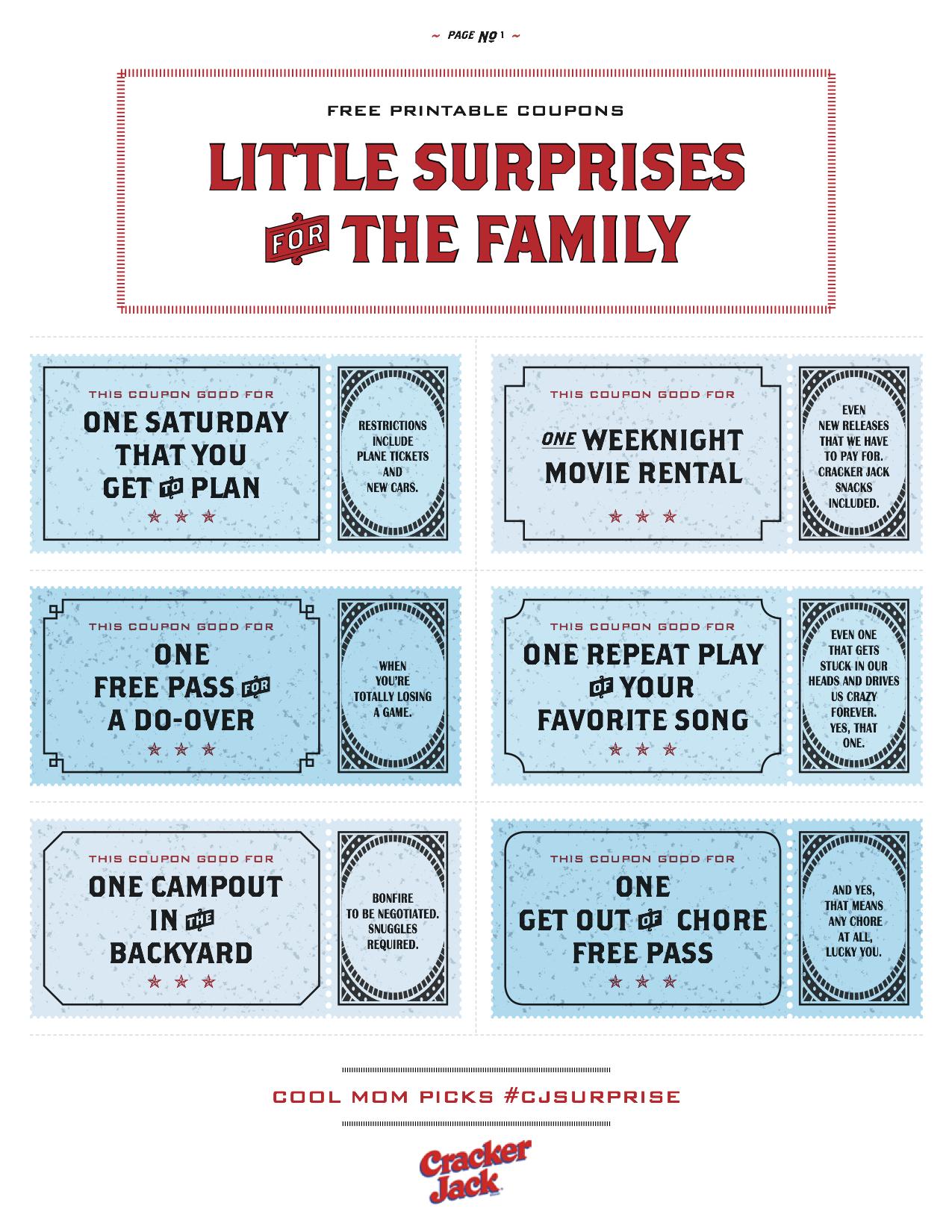 Free Printable Coupons That Make Awesome Family Gifts - Free Printable Coupons Without Downloads