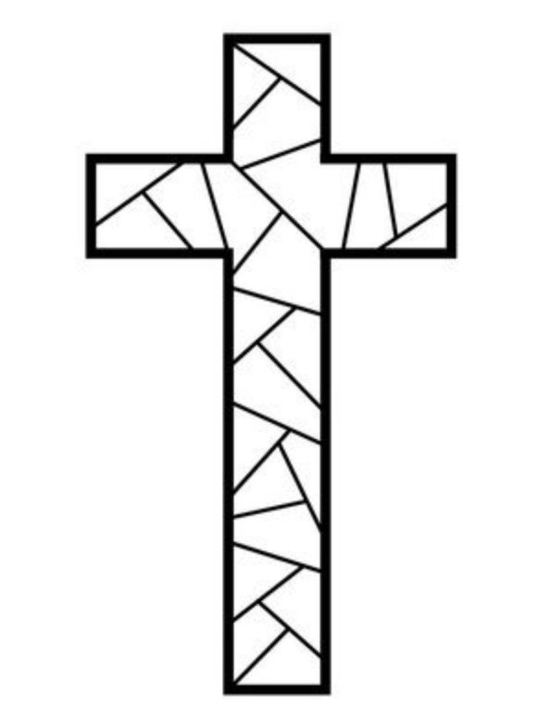 Free Printable Cross Coloring Pages   Coloring Pages   Stain Glass - Free Printable Religious Easter Bookmarks