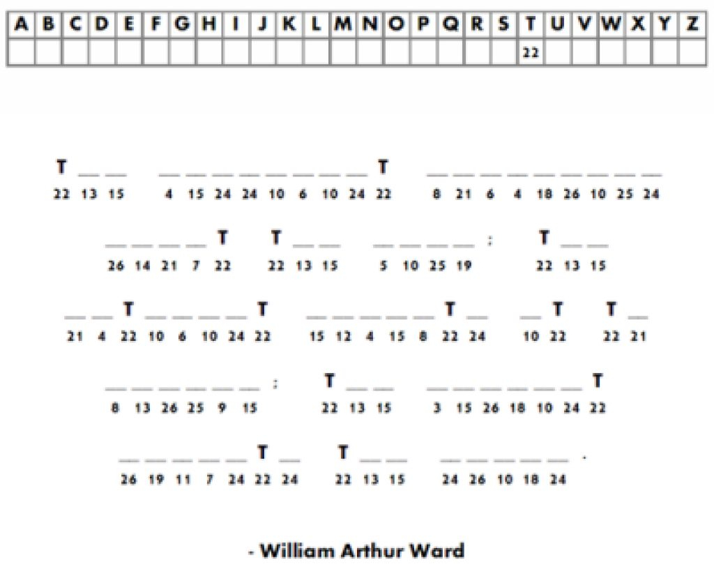 Free Printable Cryptograms For Adults | Www.topsimages - Free Printable Cryptograms With Answers