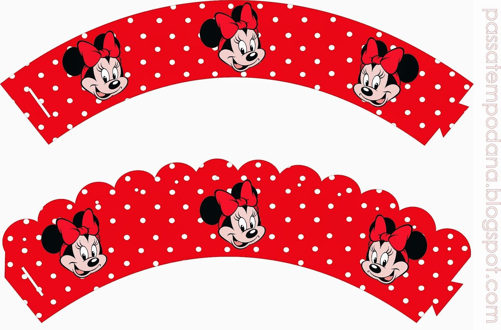 Free Printable Cupcake Wrappers. | Fiesta Minnie Mouse | Pinterest - Free Printable Minnie Mouse Cupcake Wrappers