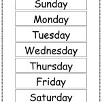 Free Printable Days Of The Week Chart | Classroom Ideas | Flashcards   Free Printable Days Of The Week
