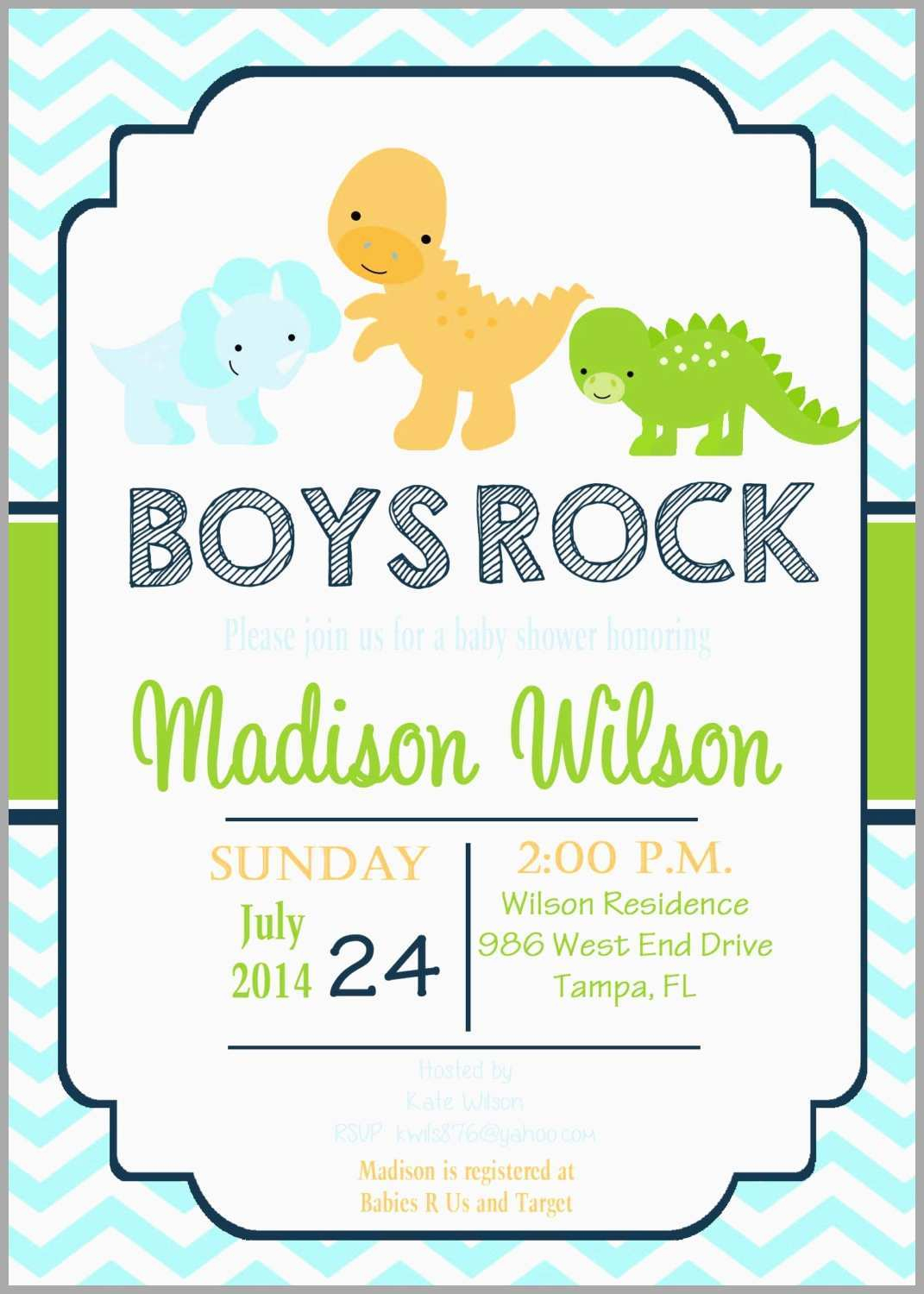 Free Printable Dinosaur Baby Shower Invitations Beautiful Cute - Free Printable Dinosaur Baby Shower Invitations