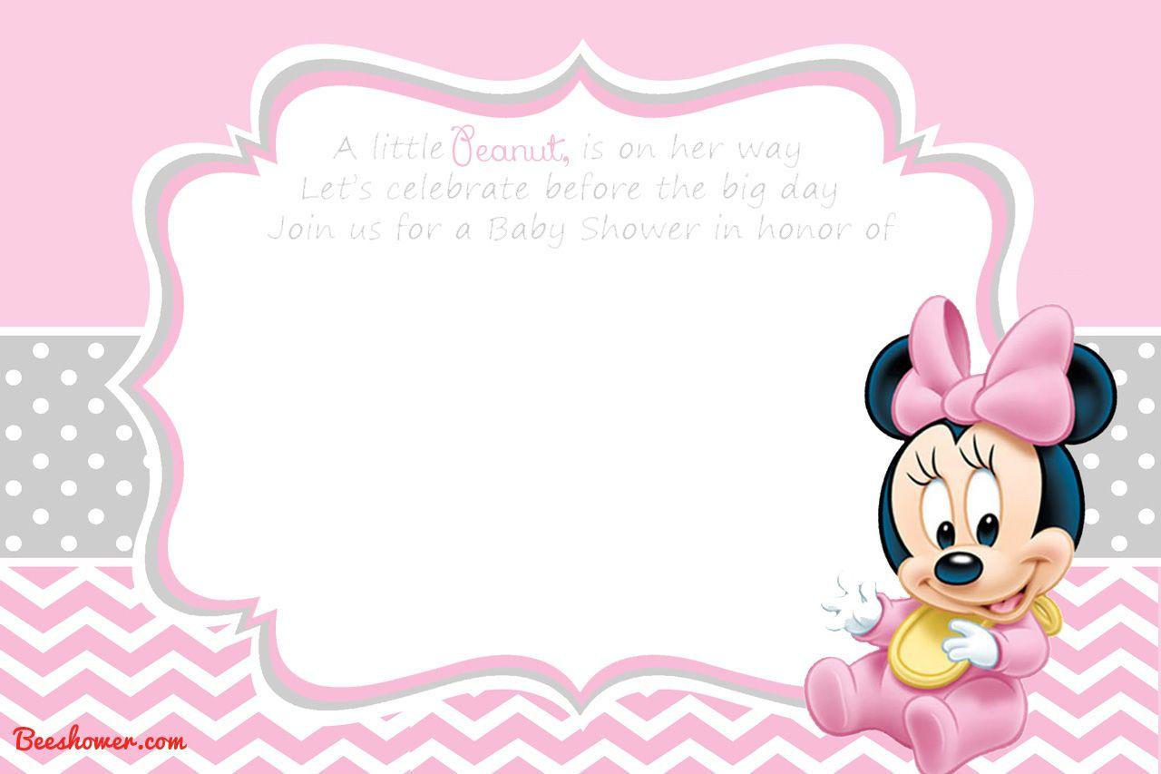 Free Printable Disney Baby Shower Invitations | Free Printable - Free Printable Minnie Mouse Baby Shower Invitations