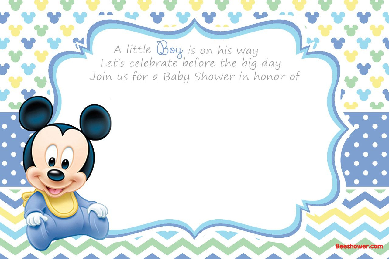 Free Printable Disney Baby Shower Invitations | Free Printable - Free Printable Tinkerbell Baby Shower Invitations