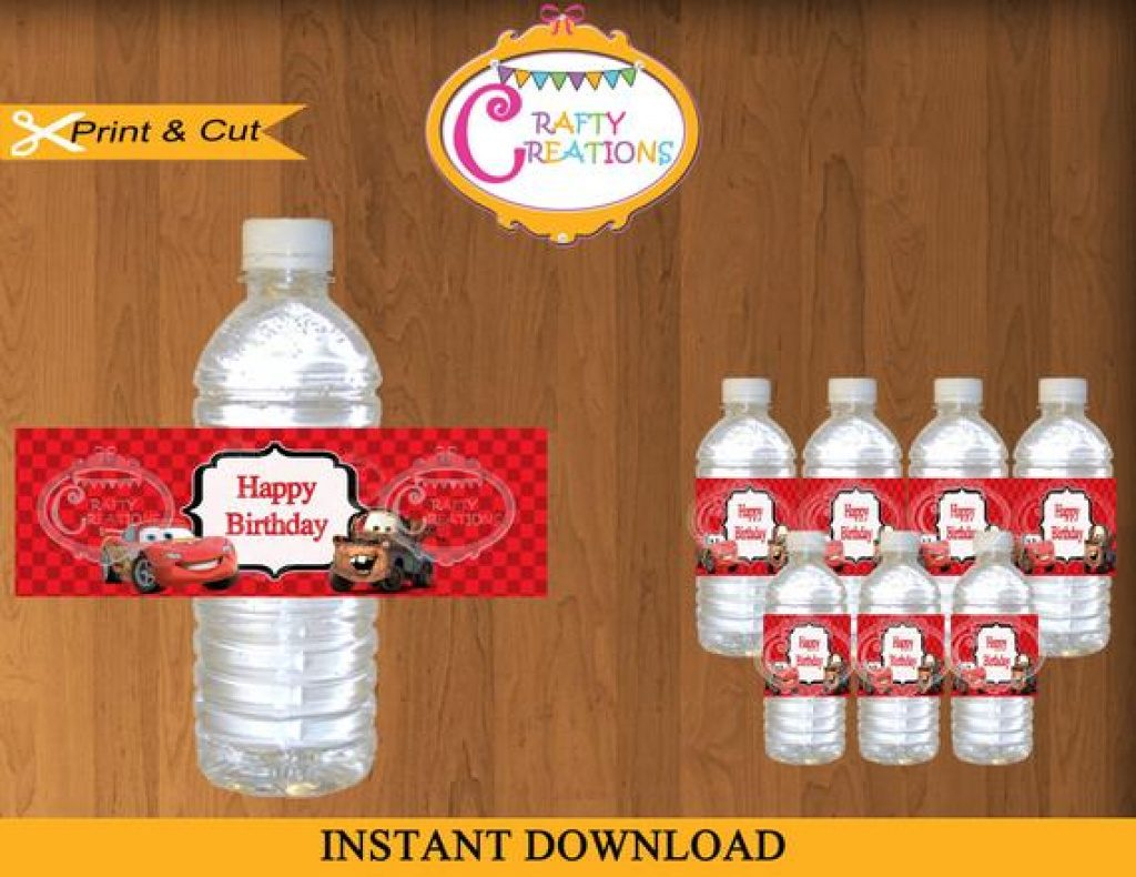 Free Printable Disney Cars Water Bottle Labels | Free Printable - Free Printable Disney Cars Water Bottle Labels