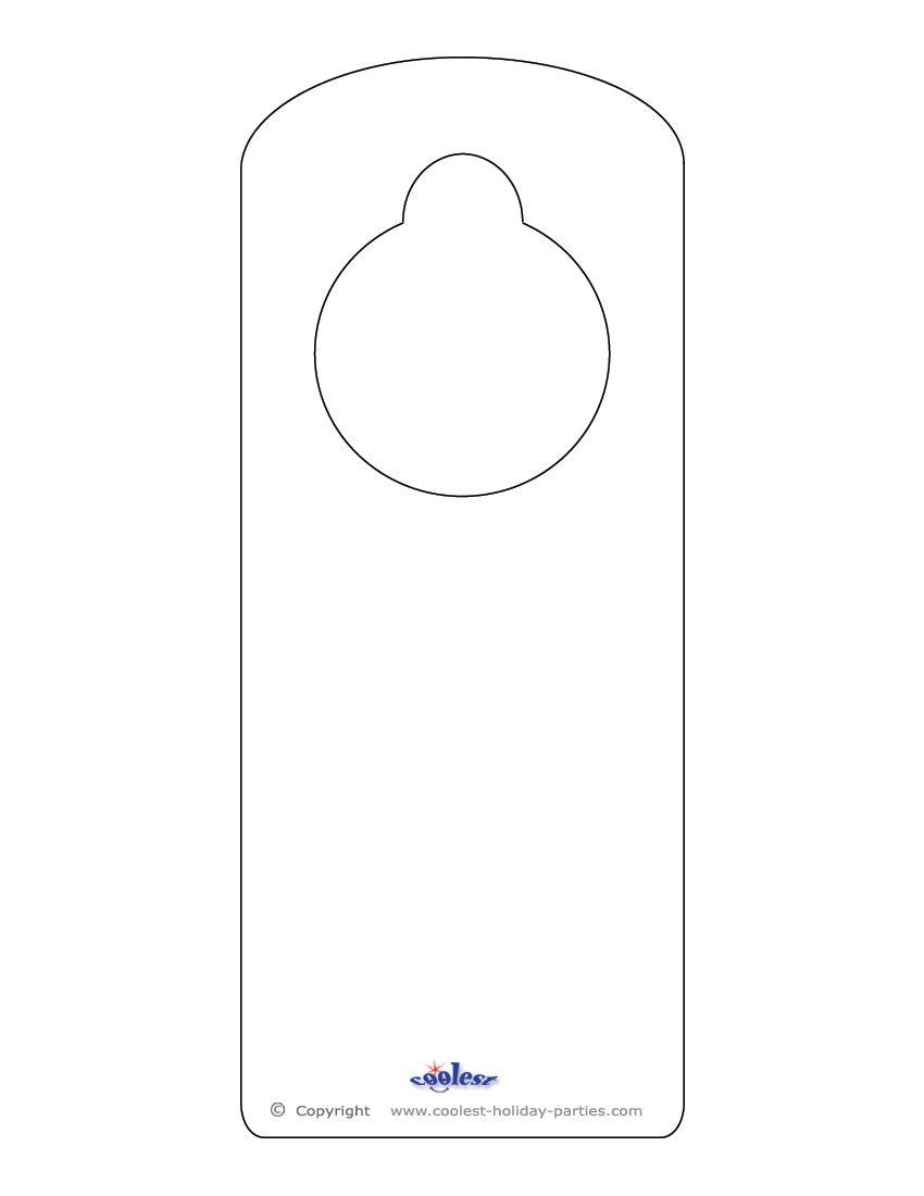 Free Printable Door Knob Hanger Template • Knobs Ideas Site - Free Printable Door Hanger Template