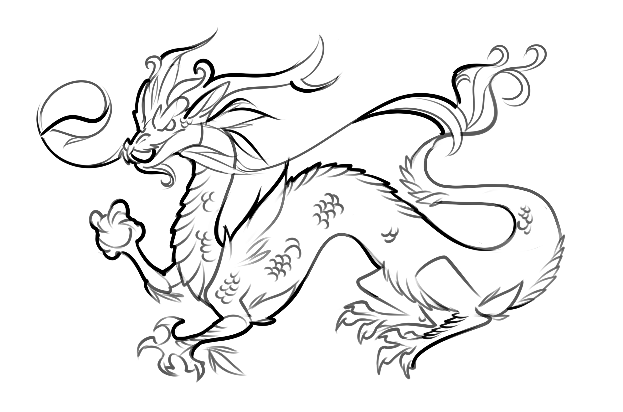 Free Printable Dragon Coloring Pages For Kids   Things That Caught - Free Printable Chinese Dragon Coloring Pages