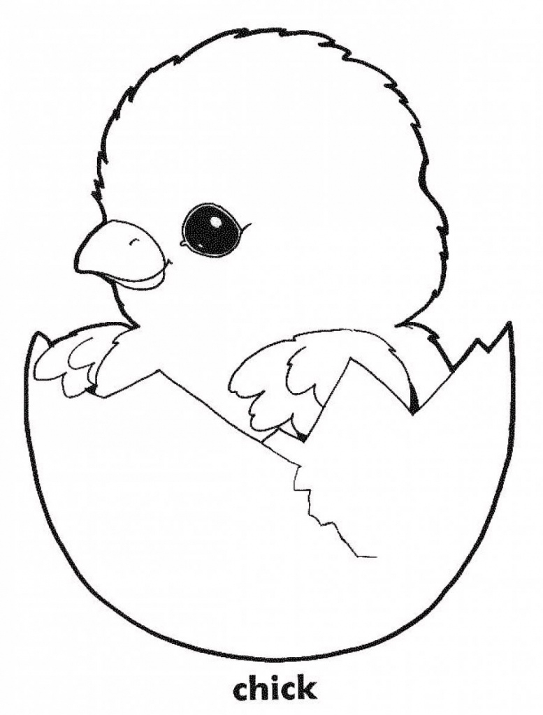 Free Printable Easter Baby Chick Coloring Pages With Chicken Print - Free Printable Easter Baby Chick Coloring Pages