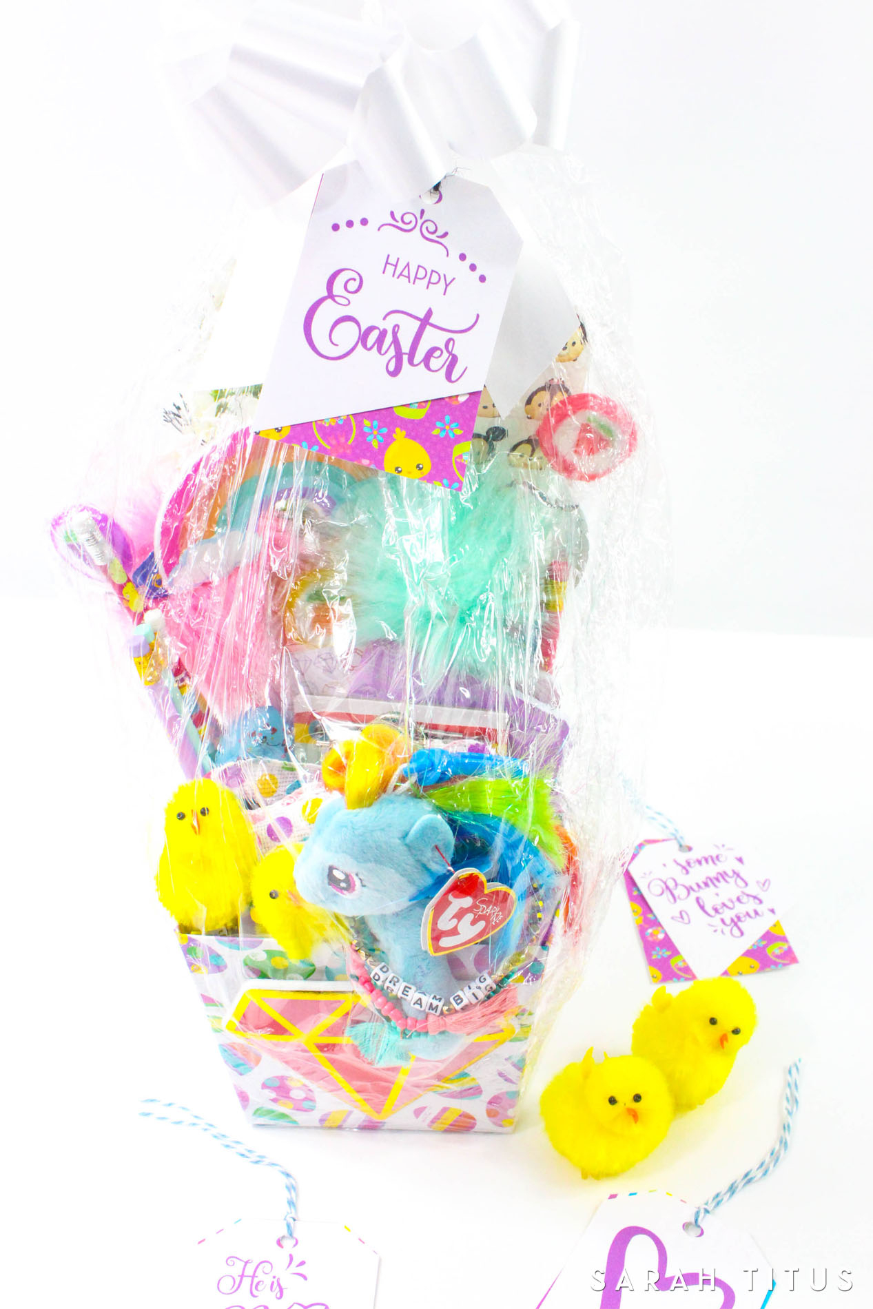 Free Printable Easter Gift Tags - Sarah Titus - Free Printable Easter Basket Name Tags