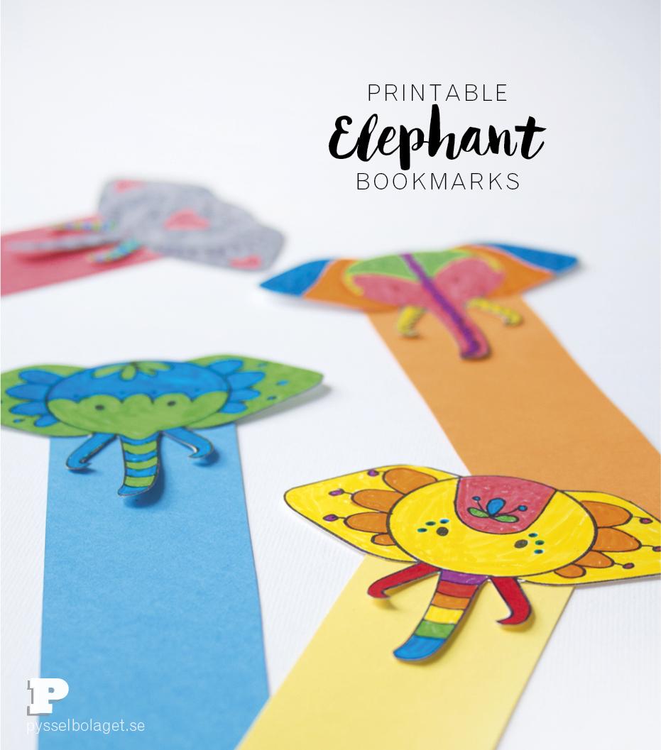 Free Printable Elephant Bookmarks - Free Printable Elephant Images
