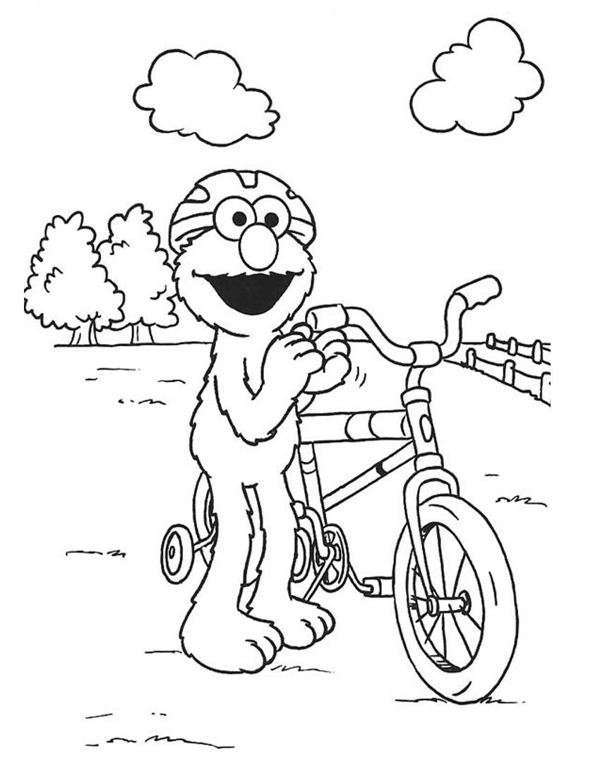 Free Printable Elmo Coloring Pages For Kids | Elmo | Pinterest - Elmo Color Pages Free Printable