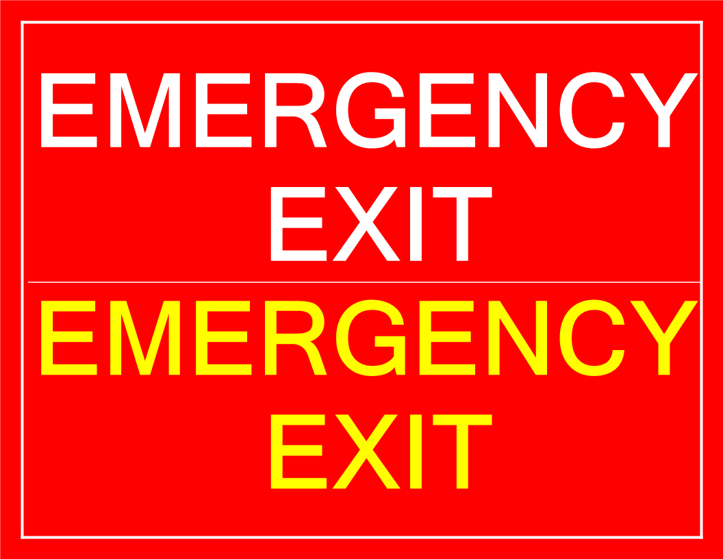 Free Printable Emergency Exit Sign | Templates At - Free Printable Emergency Exit Only Signs