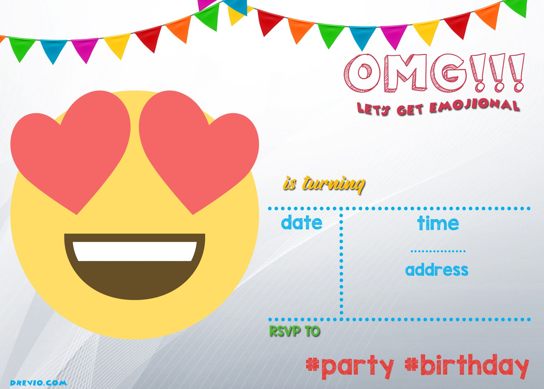 Free Printable Emoji Invitation   Free Printable Birthday - Emoji Invitations Printable Free