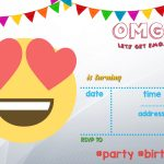 Free Printable Emoji Invitation | Free Printable Birthday   Free Printable Emoji B Day Invites