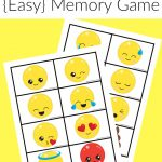Free Printable Emoji Memory Game For Kids | After School Activities   Free Printable Memory Exercises
