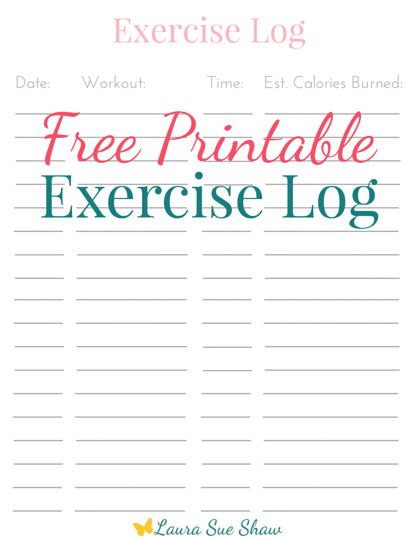 Free Printable Exercise Log - Free Printable Fitness Log