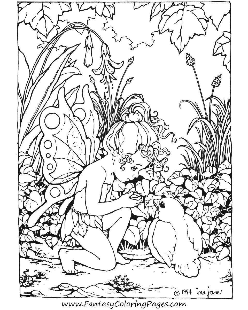 Free Printable Fairy Coloring Pages For Kids   Coloring Page - Free Printable Fairy Coloring Pictures