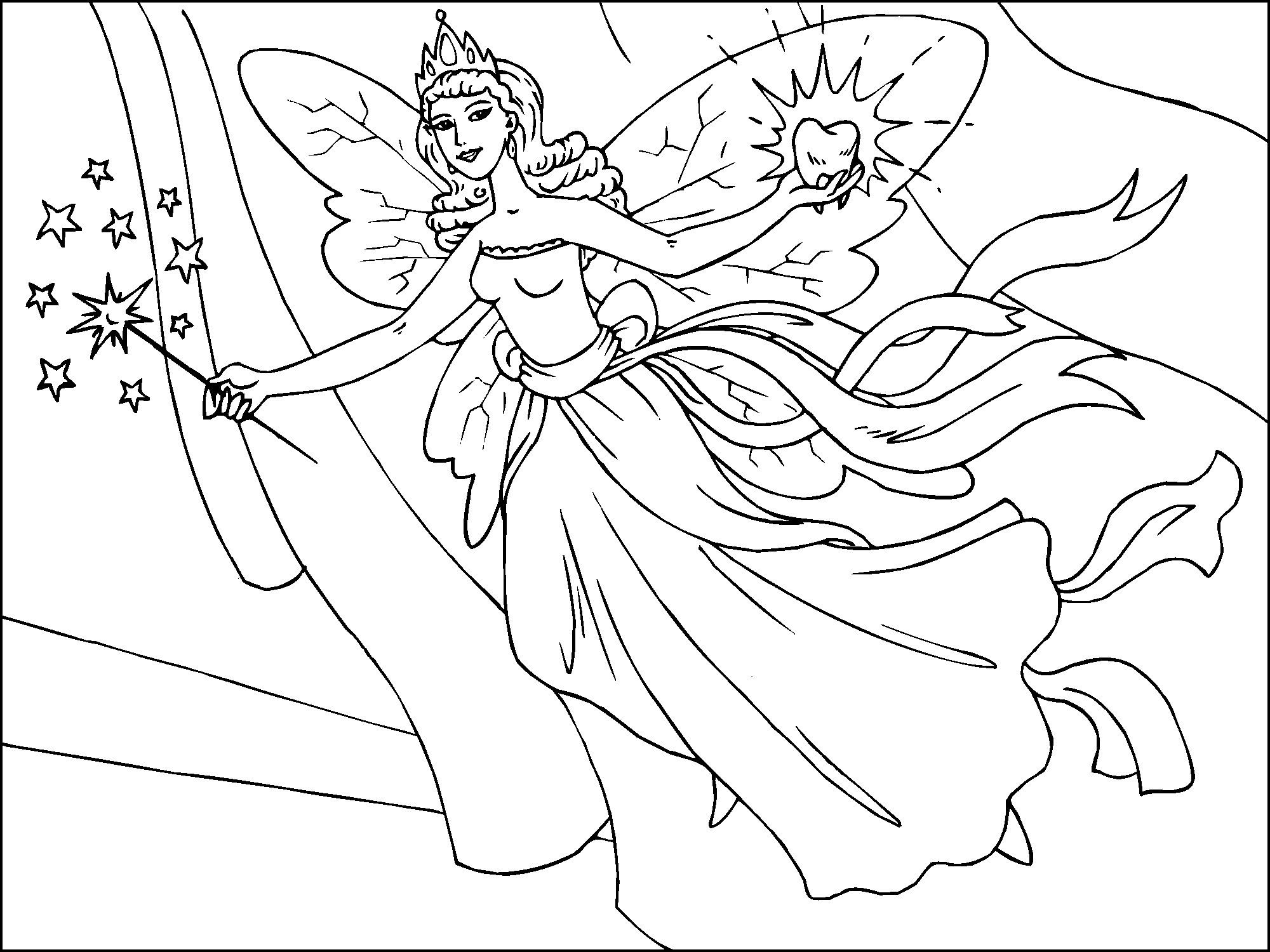 Free Printable Fairy Coloring Pages For Kids   Everything - Free Printable Fairy Coloring Pictures