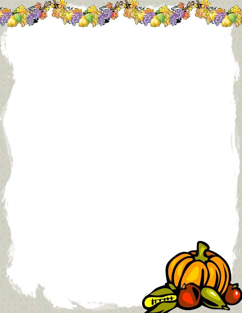 Free Printable Fall Border Stationery | Vectorborders - Free Printable Halloween Stationery Borders